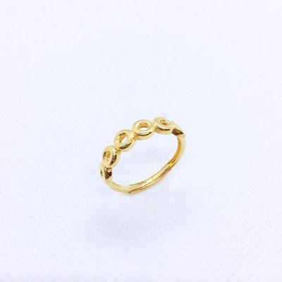 幸福速递 小露珠5G足金戒指(圆形)