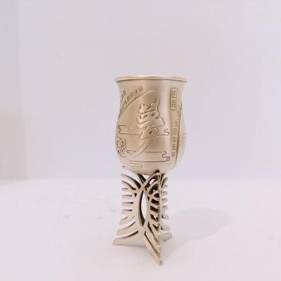 冠爵-足银本色酒杯