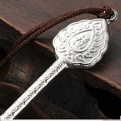 匠忍-足银本色玛瑙生活用品-耳勺