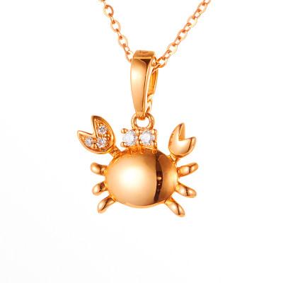 爱情漫游-海蟹-18k金玫瑰色钻石套链