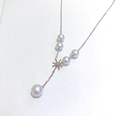 幸福眼泪 专柜正品 18K金分色珍珠项链 送女友