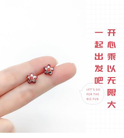 梦花韵 S925银合成立方氧化锆耳钉