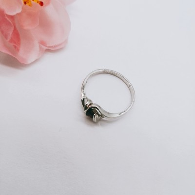 S925银镶石榴石戒指