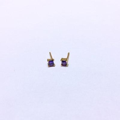 千惑 S925银合成立方氧化锆耳钉