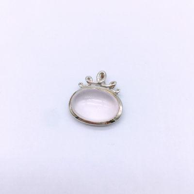 芙蓉之恋S925银粉晶吊坠