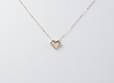 AU750金玫瑰色钻石套链