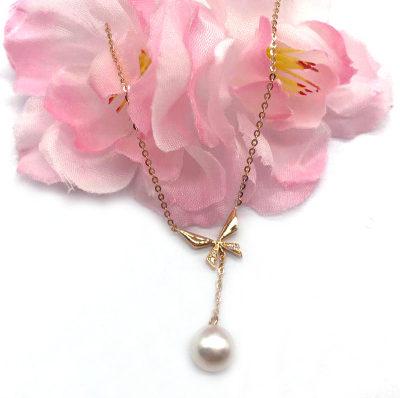 18K金玫瑰色珍珠项链