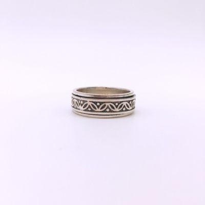 酷圣S925银素银戒指
