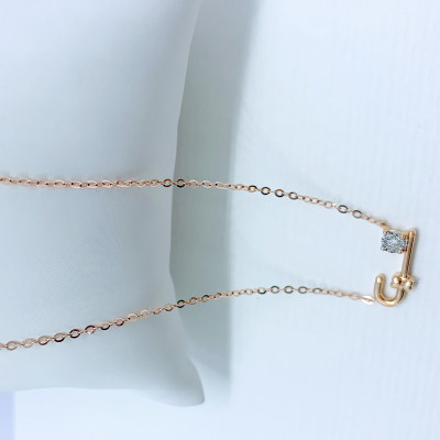 幸福圣诞18K金分色钻石套链