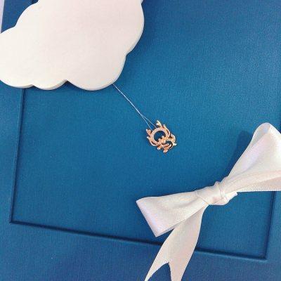 幸福小Q—玫瑰金钻石吊坠(龙)