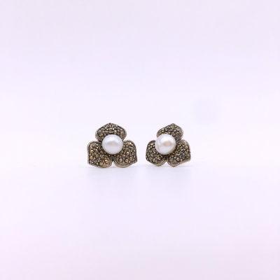 月光赋S925银合成立方氧化锆耳钉