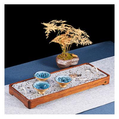 火山口茶盘+木材+大理石