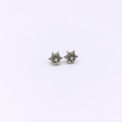 阿黑哥S925银素银耳钉