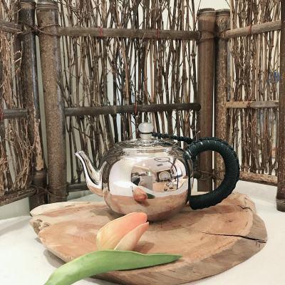 匠义-足银本色茶具-福字泡茶壶