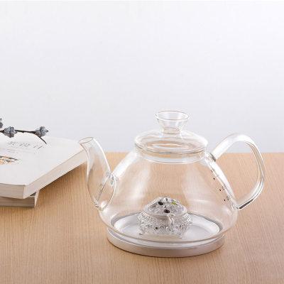 天官赐足银镶碧玺玻璃养生银壶-聚宝系列赠电陶炉套装