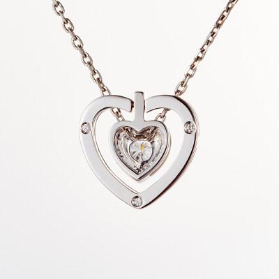 爱情之轮18k钻石吊坠