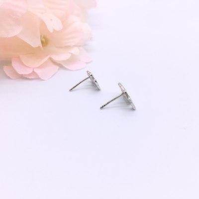 最美情话S925银素银耳钉