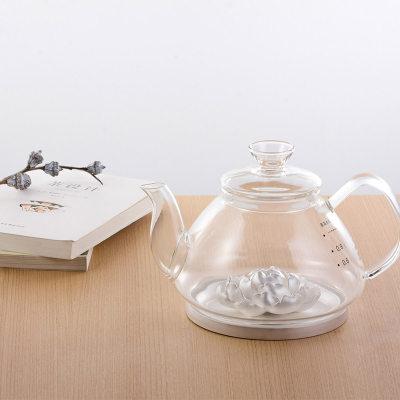 天官赐足银玻璃养生银壶-富贵牡丹系列赠电陶炉套装
