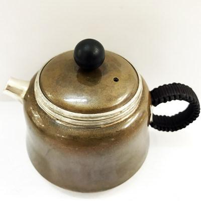 银创道 铜包银泡茶壶 足银990侧提壶 手工小茶壶 送亲人长辈茶具礼品