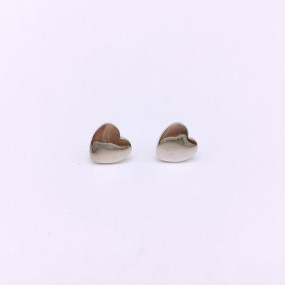 小情歌S925银电白素银耳钉