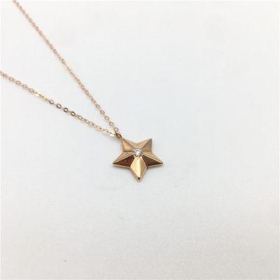幸福希望-4D18K玫瑰钻石镶嵌套链