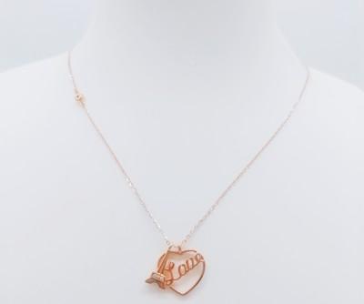 幸福国度18K金玫瑰色钻石套链