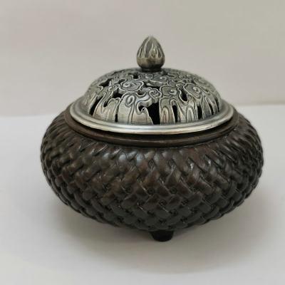 银香道-足银仿古檀木香炉