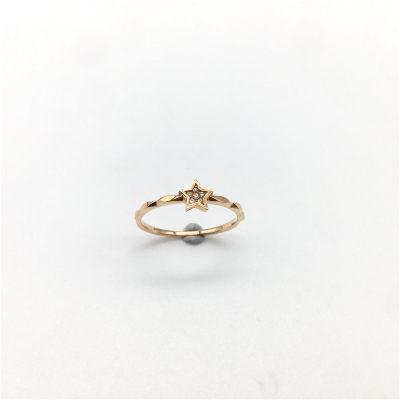 幸福希望-AU750金玫瑰钻石镶嵌女款戒指