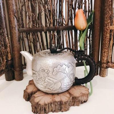 匠义-足银仿古茶具-乐愉小泡壶