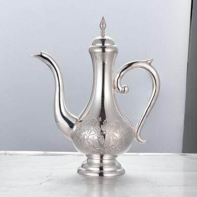 银酒赋-足银本色酒具-喜上眉梢酒壶