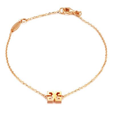 幸福之源18K金玫瑰色手链