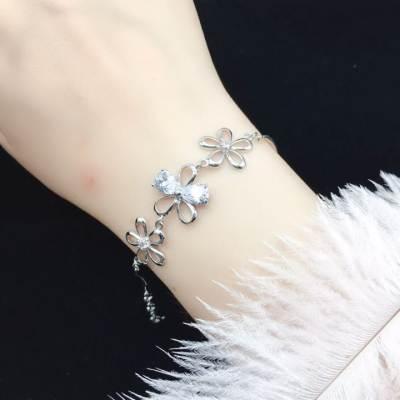 爱情模样 S925银合成立方氧化锆手链