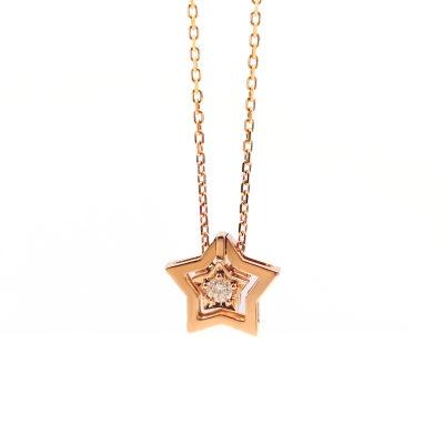 幸福分享18k金玫瑰色钻石套链