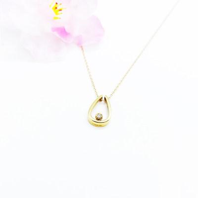 滴确幸福 商柜正品 AU750玫瑰金钻石套链 送老婆