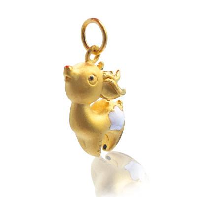 """幸福小宝3D硬金-一""""鹿""""快乐"""