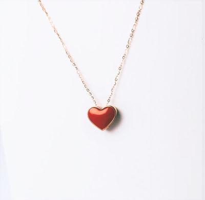 幸福惊艳AU750金玫瑰色钻石套链