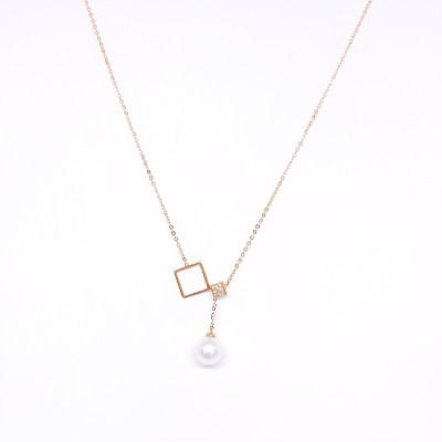幸福简单18K金玫瑰色珍珠吊坠