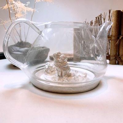 天官赐足银玻璃养生银壶-锦绣江 山系列赠电陶炉套装