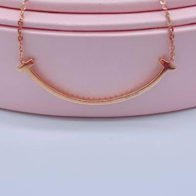 幸福微笑18k金玫瑰色钻石套链