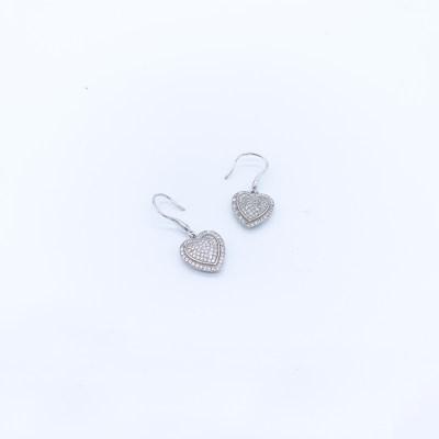 S925银合成立方氧化锆耳坠