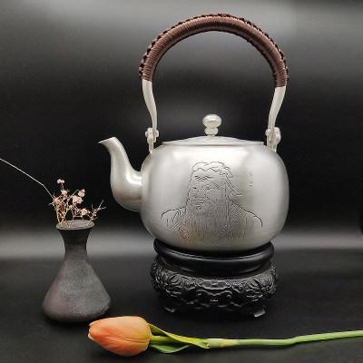 艺魂足银本色茶具-万世师表(孔圣)
