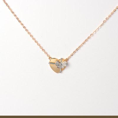 幸福收获 18K金分色钻石 套链