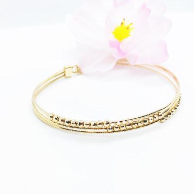 幸福之珠 商柜正品 AU750玫瑰金手链 送老婆
