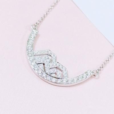 幸福牵挂18k金钻石套链