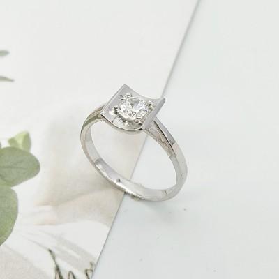 S925银电白立方氧化锆戒指