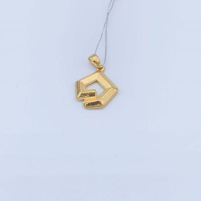 幸福心灵3D硬金素金吊坠 创意简约时尚轻奢款百搭吊坠