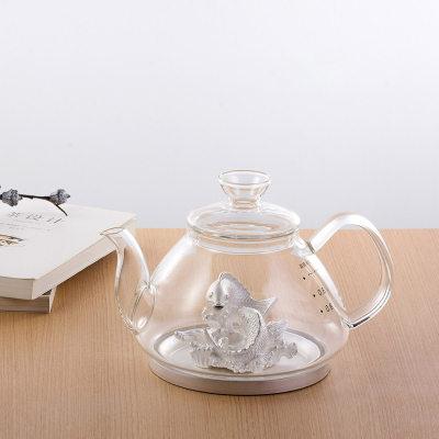 天官赐足银玻璃养生银壶-双喜临门系列赠电陶炉套装