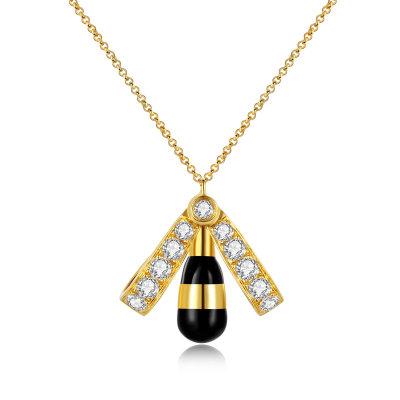 幸福未来18K金黄色钻石项链套链