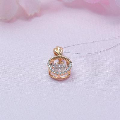 爱情如痴18K金分色钻石吊坠
