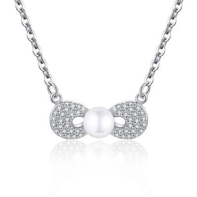 S925银电白珍珠套链